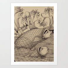 The Golden Fish (1) Art Print