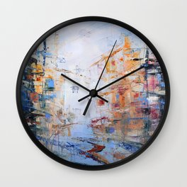 Morning Abstract Wall Clock