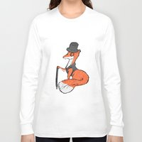 mr fox Long Sleeve T-shirts featuring Mr Fox by Cat Milchard