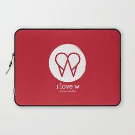 I Love W Laptop Sleeve