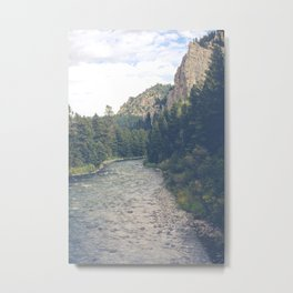 The Montana Collection - A River Runs Through It - Gallatin Canyon Metal Print
