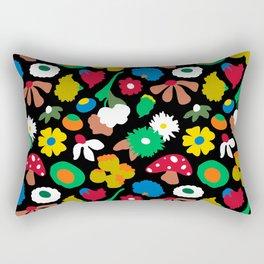Mod Mushroom Floral Rectangular Pillow