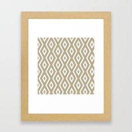 Brown Diamond Pattern Framed Art Print