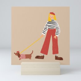 Parisian Pooch Mini Art Print