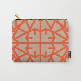 Diamond Bug - Flame and Hazelnut Carry-All Pouch