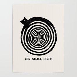 Hypnotic Black Cat Poster