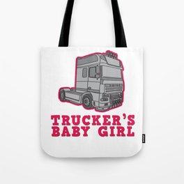 Trucker Truck driver Highway 7 drive Transport driver LKW Funny Tshirt Tote Bag