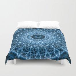Bright blue mandala Duvet Cover