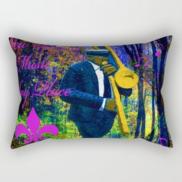 NEW ORLEANS JAZZ TROMBONE LET THE GOOD TIMES ROLL!! Rectangular Pillow