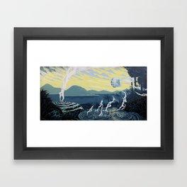 Moonlit Mud (Rotorua, New Zealand) Framed Art Print