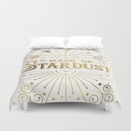Made of Stardust – Gold Palette Duvet Cover