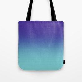 Purple Aqua Ombré Gradient Abstract Tote Bag