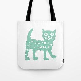 Mint cat drawing, cat drawing Tote Bag