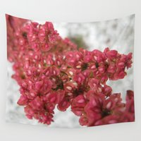 weed Wall Tapestries featuring Red Beach Weed 78 by Rodapsoh