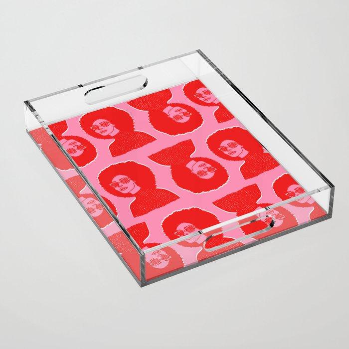 Kara Pattern Acrylic Tray