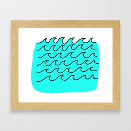 G Waves Framed Art Print