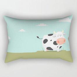 Happy fat cow Rectangular Pillow