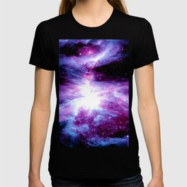 Orion Nebula Purple Periwinkle Blue Galaxy T-shirt