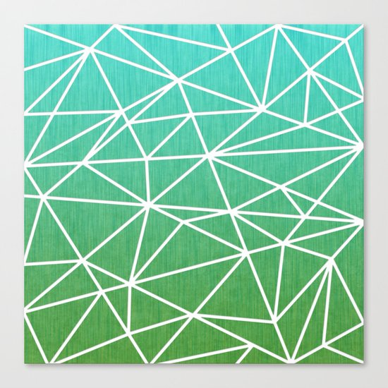 Abstract geometric | green & turquoise Canvas Print