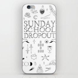 Art School Dropout (black) iPhone Skin