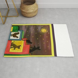 """""""Moonlight & Silhouettes (i)"""" by ICA PAVON Rug"""