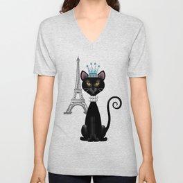 Le Chat, La Reine - The Cat, The Queen Unisex V-Neck