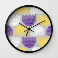 jelly fish Wall Clocks featuring Jelly-fish by Leanne Oughton