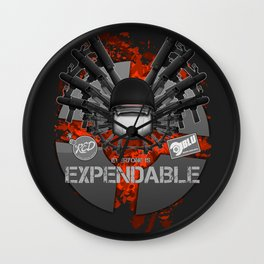 Everyone is EXPENDABLE - SOLDIER Wall Clock