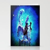 nebula Stationery Cards featuring Blue Pillars of Creation nEBULA  by 2sweet4words Designs