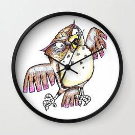 Wise Old Owl w/ Gel Pen Wall Clock