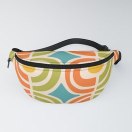 Mid Century Modern Solar Flares Pattern 2 Fanny Pack