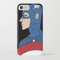 captain iPhone & iPod Cases featuring Captain by nu boniglio