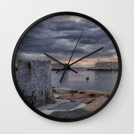 Cloudy afternoon at Lanes Cove 2392 Wall Clock