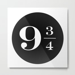 Platform 9 3/4 Metal Print