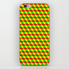 Cubed - Rasta iPhone Skin