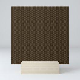Brown Seigaiha Mini Art Print