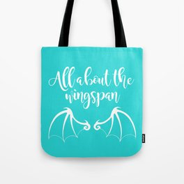 All About the Wingspan blue design Tote Bag