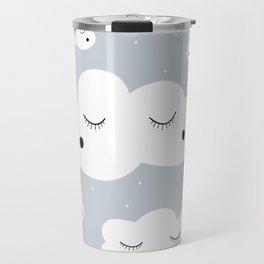 clouds and dots Travel Mug