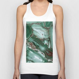 Luxury Malachite Marble Agate Unisex Tank Top