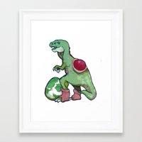 yoshi Framed Art Prints featuring yoshi by Pamby