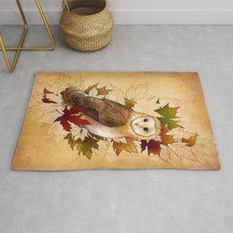 Autumn Barn Owl Rug