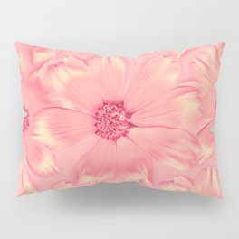 Pink Daisies | Daisy Flowers, Pastel Pink, Real Flowers, Pressed Flowers, Sweet, Pretty, Floral Photo Pillow Sham