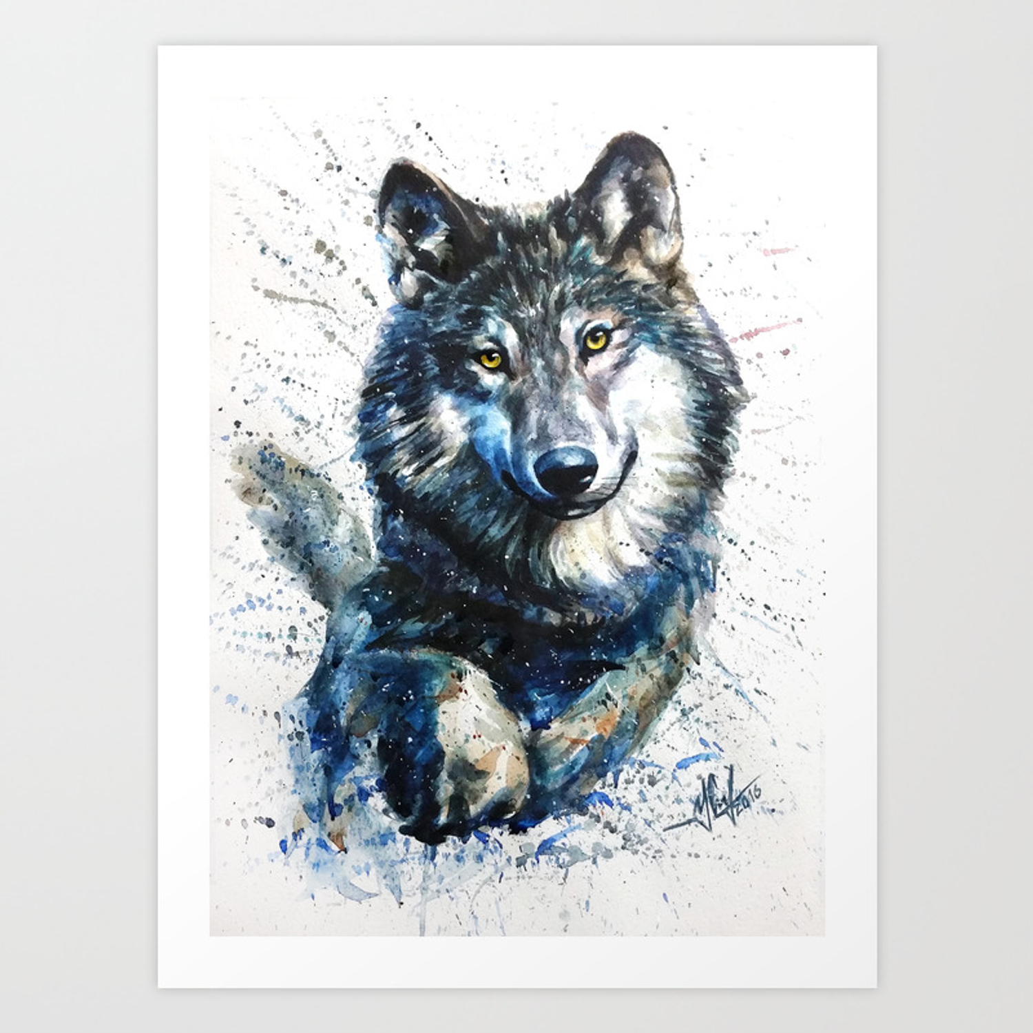 Gray Wolf Forest King Art Print By Kostart Society6