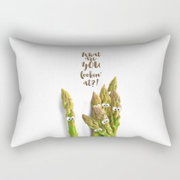 What are you lookin' at?! Rectangular Pillow