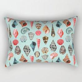 Seashells ocean nautical beach seaside children kids baby home dec shell illustration Andrea Lauren Rectangular Pillow