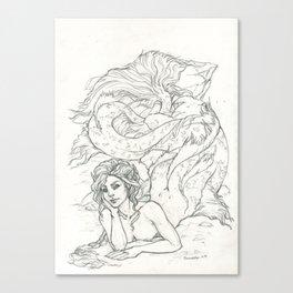 Mairmaid rêverie Canvas Print