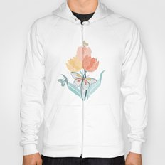 Butterflies and Tulips I Hoody