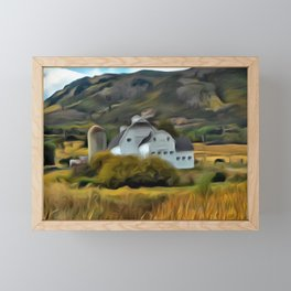 The Farm in Fall by Leslie Harlow Framed Mini Art Print
