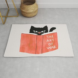 Cat reading book Rug