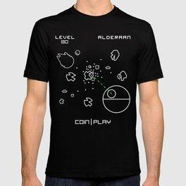 Retro Star Wars Arcade Alderaan Asteroids T-shirt